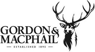mark for GORDON & MACPHAIL ESTABLISHED 1895, trademark #79112360