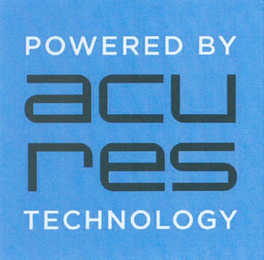 mark for ACU RES POWERED BY TECHNOLOGY, trademark #79113285