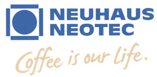 mark for NEUHAUS NEOTEC COFFEE IS OUR LIFE., trademark #79114270