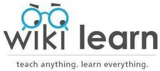 mark for WIKI LEARN TEACH ANYTHING. LEARN EVERYTHING., trademark #79114925