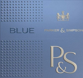 mark for BLUE PARKER & SIMPSON P&S, trademark #79116262