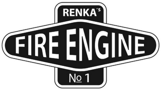 mark for RENKA'S FIRE ENGINE NO. 1, trademark #79122308