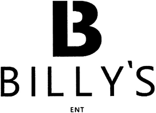 mark for B BILLY'S ENT, trademark #79169259
