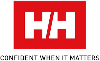 mark for HH CONFIDENT WHEN IT MATTERS, trademark #79169893