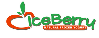 mark for ICEBERRY NATURAL FROZEN YOGURT, trademark #85001620