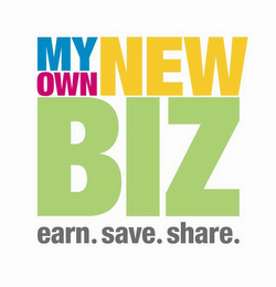 mark for MY OWN NEW BIZ EARN. SAVE. SHARE., trademark #85005606