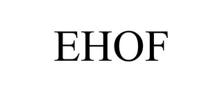 mark for EHOF, trademark #85006047