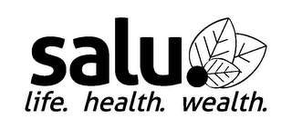 mark for SALU LIFE. HEALTH. WEALTH., trademark #85007262