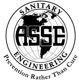 mark for ASSE SANITARY ENGINEERING PREVENTION RATHER THAN CURE, trademark #85009266