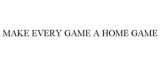 mark for MAKE EVERY GAME A HOME GAME, trademark #85010527