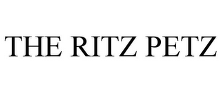 mark for THE RITZ PETZ, trademark #85011818