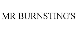 mark for MR BURNSTING'S, trademark #85012963