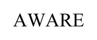 mark for AWARE, trademark #85018554