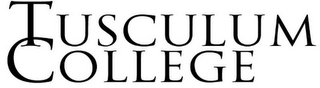 mark for TUSCULUM COLLEGE, trademark #85024468