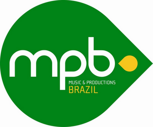 mark for MPB MUSIC & PRODUCTIONS BRAZIL, trademark #85027409