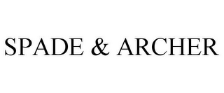 mark for SPADE & ARCHER, trademark #85030226