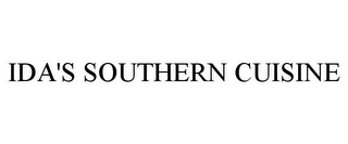 mark for IDA'S SOUTHERN CUISINE, trademark #85033863