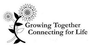 mark for GROWING TOGETHER CONNECTING FOR LIFE, trademark #85034323