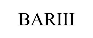 mark for BARIII, trademark #85037874
