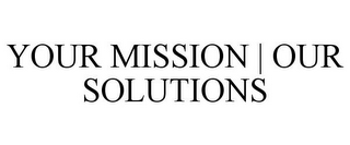 mark for YOUR MISSION | OUR SOLUTIONS, trademark #85038042