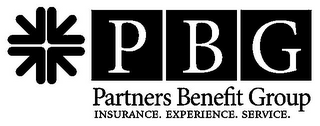 mark for PBG PARTNERS BENEFIT GROUP INSURANCE. EXPERIENCE. SERVICE., trademark #85038166