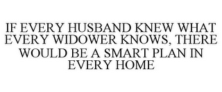 mark for IF EVERY HUSBAND KNEW WHAT EVERY WIDOWER KNOWS, THERE WOULD BE A SMART PLAN IN EVERY HOME, trademark #85039358