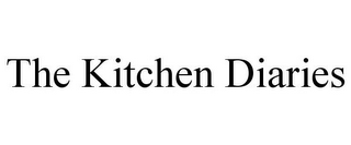 mark for THE KITCHEN DIARIES, trademark #85043387
