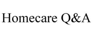 mark for HOMECARE Q&A, trademark #85044638
