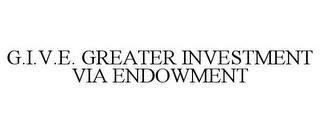 mark for G.I.V.E. GREATER INVESTMENT VIA ENDOWMENT, trademark #85048132