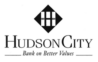 mark for H HUDSON CITY BANK ON BETTER VALUES, trademark #85048593