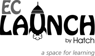 mark for EC LAUNCH BY HATCH A SPACE FOR LEARNING, trademark #85049049