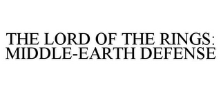 mark for THE LORD OF THE RINGS: MIDDLE-EARTH DEFENSE, trademark #85049098