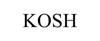mark for KOSH, trademark #85049570