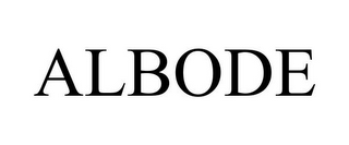 mark for ALBODE, trademark #85050323