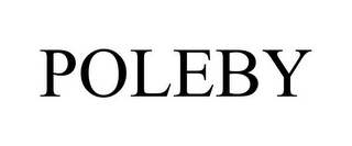 mark for POLEBY, trademark #85051695