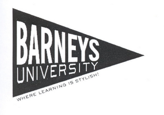 mark for BARNEYS UNIVERSITY WHERE LEARNING IS STYLISH!, trademark #85056459