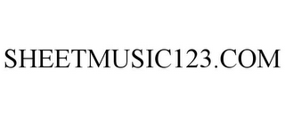mark for SHEETMUSIC123.COM, trademark #85056578