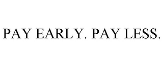 mark for PAY EARLY. PAY LESS., trademark #85056897