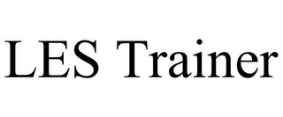mark for LES TRAINER, trademark #85057112