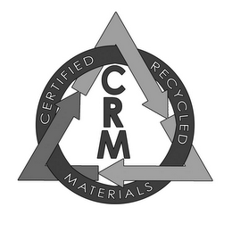 mark for CRM CERTIFIED RECYCLED MATERIALS, trademark #85057460