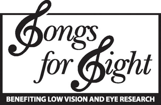 mark for SONGS FOR SIGHT BENEFITING LOW VISION AND EYE RESEARCH, trademark #85059781