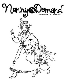 mark for NANNY ON DEMAND BECAUSE YOUR LIFE DEMANDS IT., trademark #85065319
