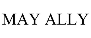 mark for MAY ALLY, trademark #85067941