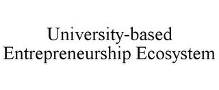 mark for UNIVERSITY-BASED ENTREPRENEURSHIP ECOSYSTEM, trademark #85069990