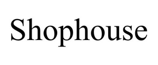 mark for SHOPHOUSE, trademark #85070492