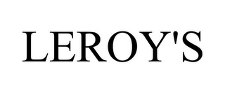 mark for LEROY'S, trademark #85073510