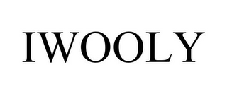 mark for IWOOLY, trademark #85074327