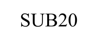 mark for SUB20, trademark #85079639