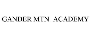 mark for GANDER MTN. ACADEMY, trademark #85083620