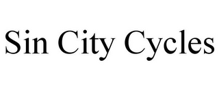 mark for SIN CITY CYCLES, trademark #85083847